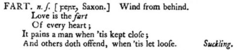 dictionary entry for fart in Johnson's opus