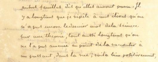 Excerpt of Gergonne letter
